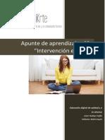 Apunte de aprendizaje 8. Intervención de los  TEA