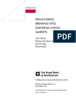 IFRC #12 - Stirland et al Dec 1998 - Franchising Breaking Into European Union Markets