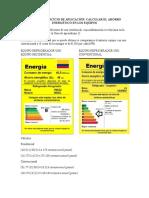 INFORME CALCULAR EL AHORRO ENERGÉTICO EN LOS EQUIPOS