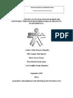 Determinación de las tecnologías de hardware, software y servicios requeridos para el proyecto en desarrollo..docx