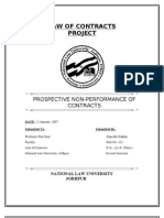 Prospective Non-performance of Contracts