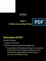AF301 Unit 7 Positive Accounting Theory