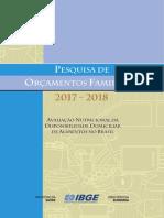 POF 2018_aquisicao Domiciliar de Alimentos No Brasil
