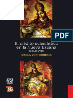 Gisela von Wobeser. El crédito eclesiástico en Nueva España. Siglo XVIII..pdf