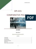 DPI415 Comparative Politics Syllabus Fall 2019