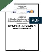 RECUEIL D'EXERCICES ETAPE 2 NIVEAU 1