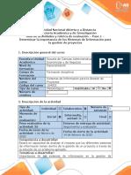 paso1. Determinar la importancia de los Sistemas de Información para la gestión de proyectos