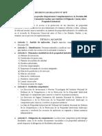 ANALISIS DECRETO LEGISLATIVO Nº 1075