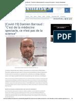 [Covid-19] Damien Barraud _ _C'est de la médecine spectacle, ce n'est pas de la science_ - Journal La Marseillaise
