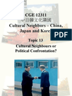 Topic13cv Cultural Neighbours or Political Confrontation.ppt