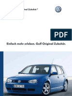 Vw Golf Mk4 Acessories Catalog - German Version