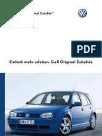 Vw Golf Mk4 Acessories Catalog - German Version