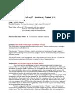 english 11- solutionary log 5