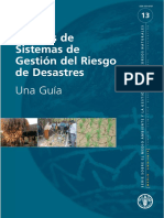 Análisis de Sistemas de Gestión Del Riesgo de Desastres