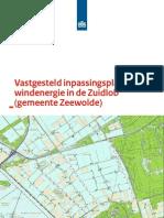 Vastgesteld inpassingsplan windenergie in de Zuidlob (gemeente Zeewolde)