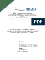 ANALISIS PRECIOS DE TRANSFERENCIA A TRAVES   LEY DE  ISLR  MEDINA MOUTHON PEDROZA PROFESOR IGOR FRANCHESCHI 02042020.docx