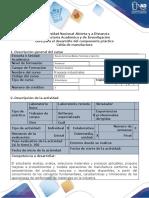 Guía para el desarrollo del componente práctico - Celda de manufactura