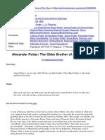 Alexander Potter The Older