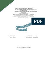 Produccion de radio.