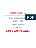 Assignment English