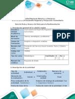 Guía de Ruta y Avance de Ruta para la Realimentación - Fase 1. Diagnóstico Solidario-2