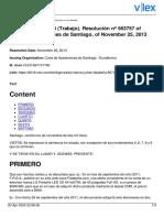 CAA Santiago 1483-2013 - Error manifiesto en publicidad