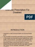 Exercise Prescription For Disabled.pptx