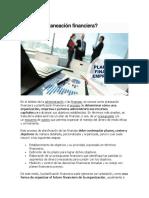 Planeaciòn Financiera