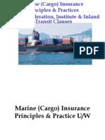 Marine Underwriting & Clauses