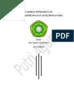 Laporan Pendahuluan Asuhan Keperawatan Anak dengan ISPA