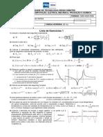 Cálculo C - Lista de Exercícios 01 - Revisão Cálculo A e B