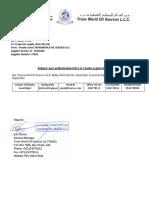 letters authorization