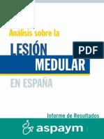 Análisis sobre la lesión medular en España