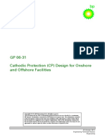 GP 06-31 - Cathodic Protection CP Design for Onshore and Offs