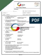 science class 6 worksheet