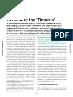 Petitot, Jean - To Remake the Timaeus.pdf