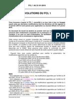 Evolution du FCL 1