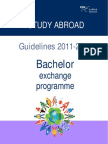 Study Abroad Guidelines Bachelor Exchange