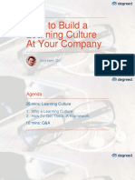 Build learning culture in your organization