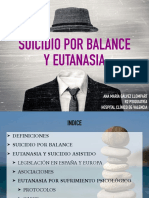 EUTANASIA Y SUICIDIO POR BALANCE