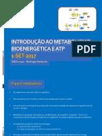 Introducao ao metabolismo e bioenergetica 2017