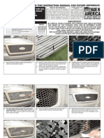 06 08 Ford f150 2pc Grille Installation Manual Carid