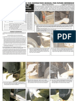 06 09 Cadillac Srx Fender Flares Installation Manual Carid