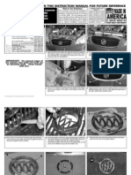 06 Buick Lucerne Grille Installation Manual Carid