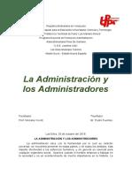 La Administración y los Administradores
