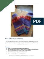 Fair Isle Wool Mittens