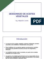 DESGOMADO DE ACEITES VEGETALES