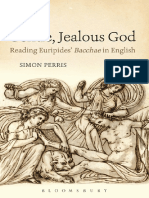The Gentle, Jealous God Reading Euripides' Bacchae in English