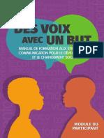 2019 Des voix avec un but. Module du participant.pdf