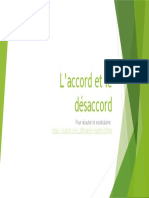 Vocabulaire L'accord et le désaccord